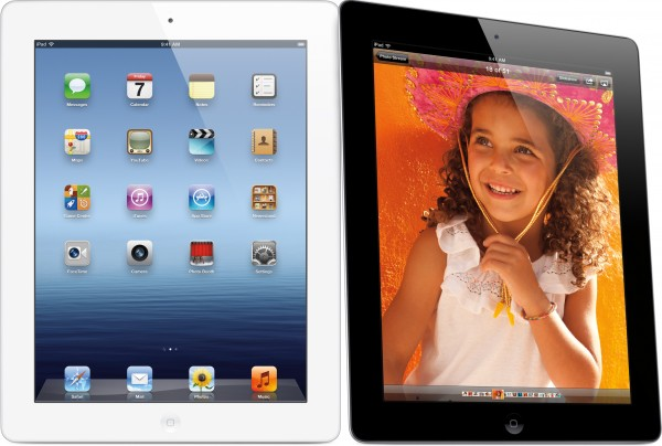 Novos iPads - branco e preto