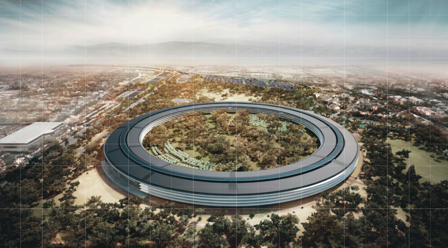 Futuro campus da Apple, em Cupertino