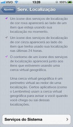 Serv. Localização do iOS 5.1