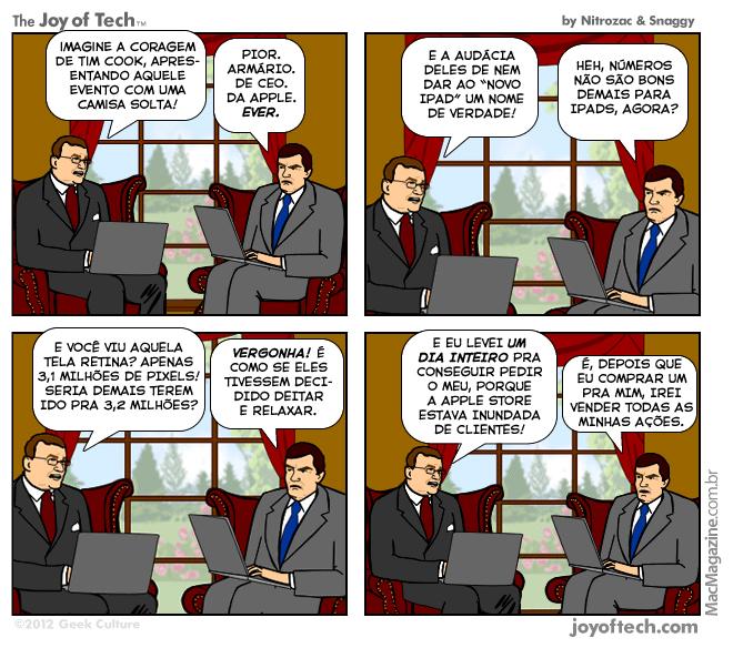 Joy of Tech - Os mesquinhos do novo iPad