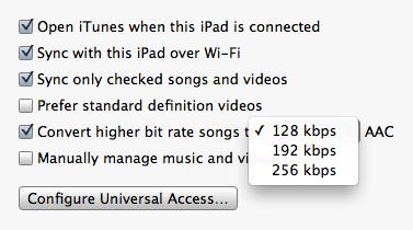 Conversão automática de músicas no iTunes 10.6