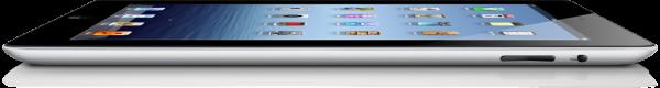 Novo iPad preto, de lado