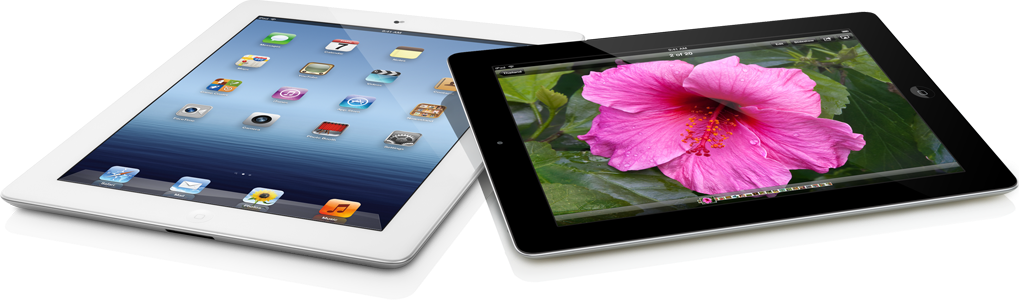 Novos iPads vistos de cima