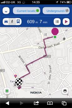 Nokia Maps no iOS