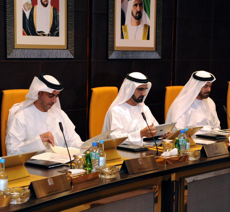 Ministros árabes com iPads