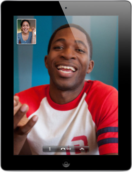 FaceTime no novo iPad