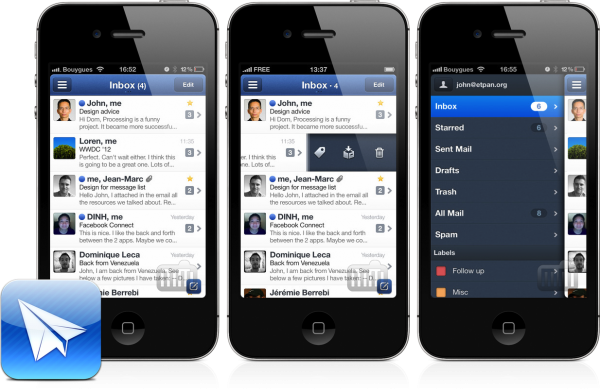 Sparrow para iPhones/iPods touch