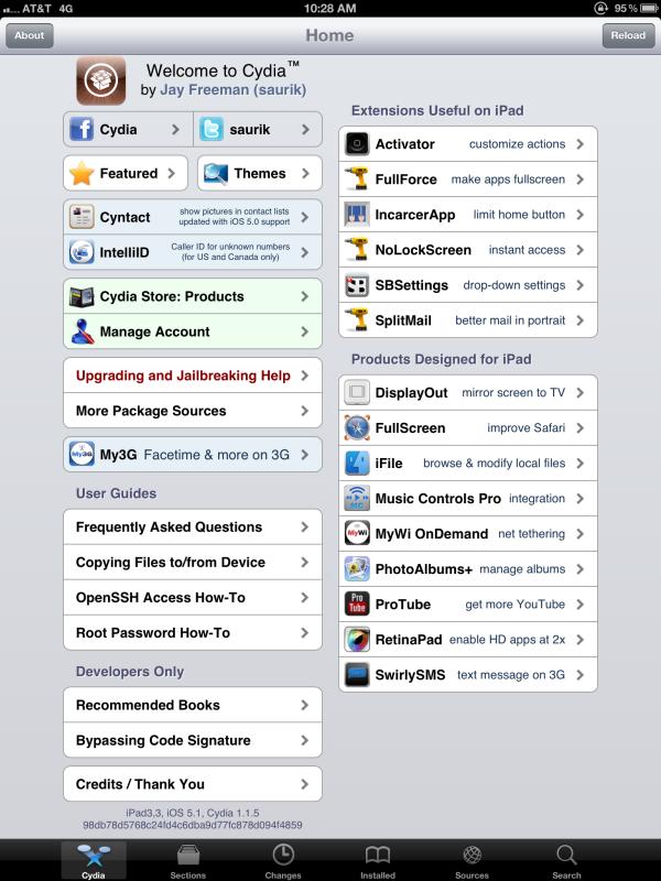 Novo iPad jailbroken