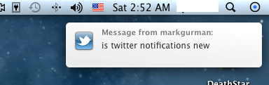 OS X Mountain Lion - Notificações