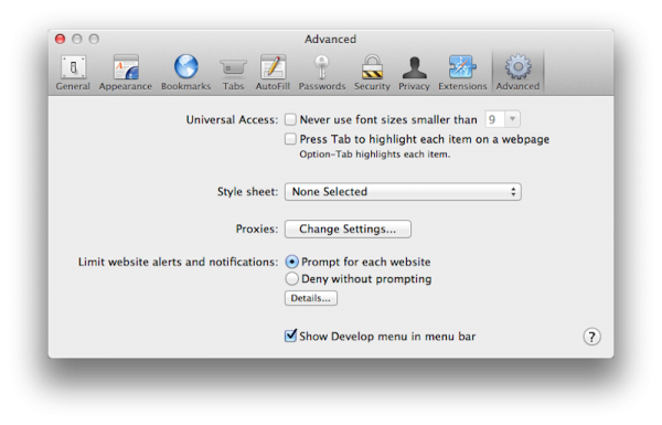 OS X Mountain Lion - Safari
