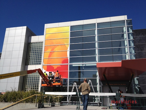 Preparação do Yerba Buena para o evento da Apple