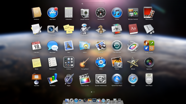 OS X Mountain Lion - Launchpad