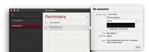 OS X Mountain Lion - Reminders