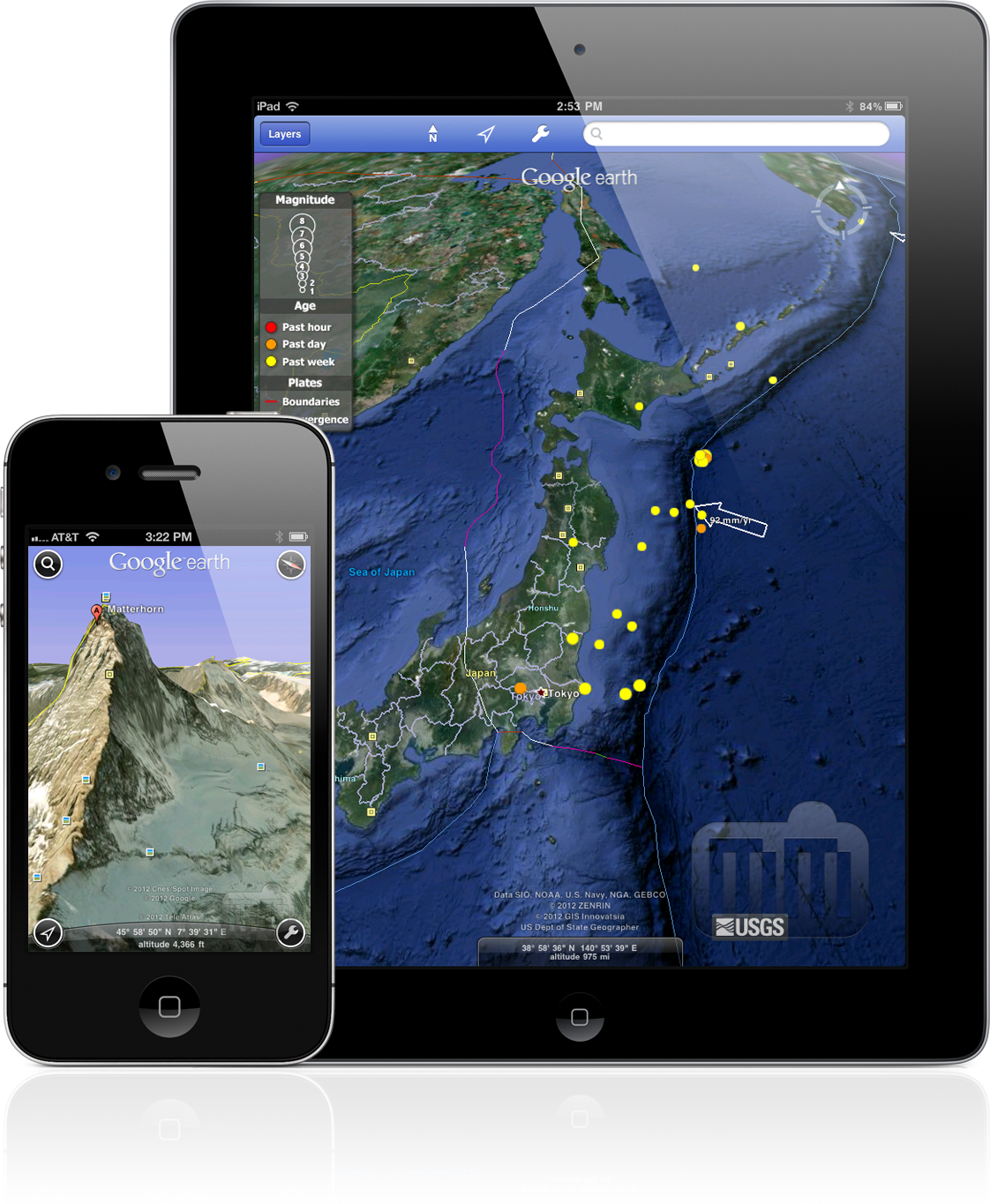 Google Earth 6.2 no iPad e iPhone