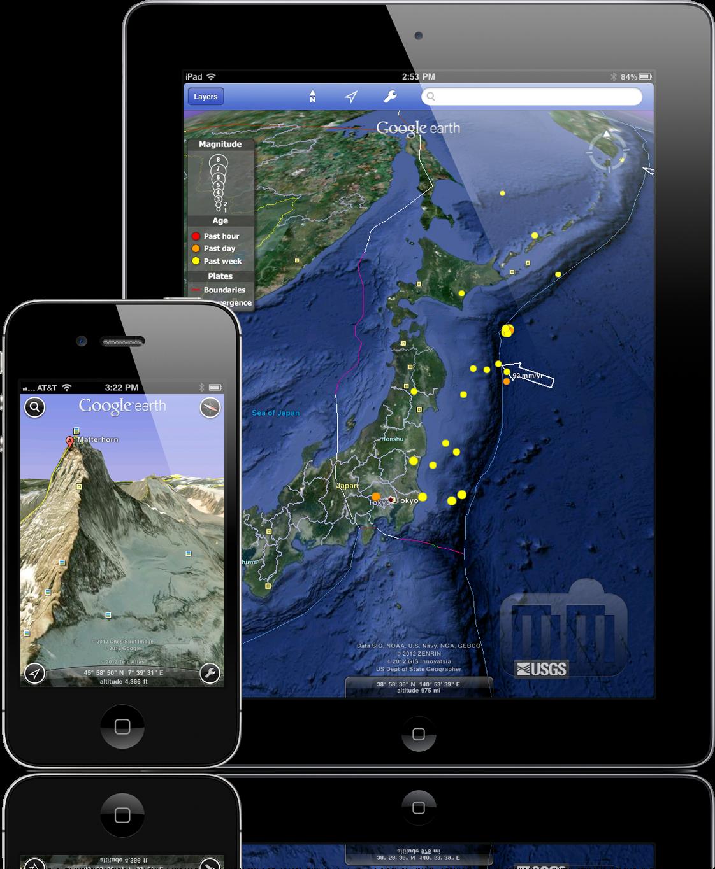 Google Earth 6.2 no iPad e iPhone