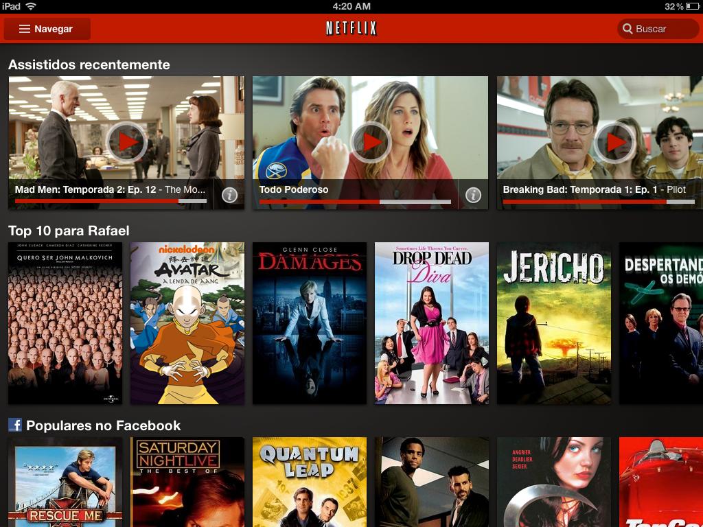 Netflix no iPad