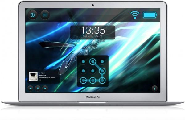 Screen Vault em um MacBook Air