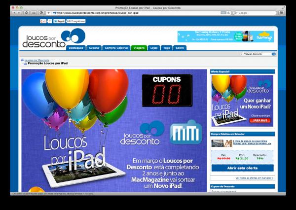 Loucos por iPad - MacMagazine e Loucos por Desconto