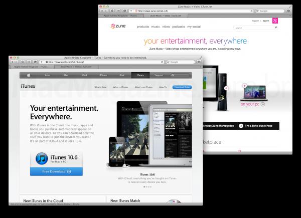 Apple copiando Microsoft - Zune vs. iTunes