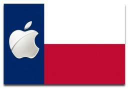 Bandeira de Austin com o logo da Maçã