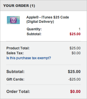 Comprando iTunes Gift Card na Best Buy