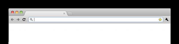 Janela limpa do Google Chrome