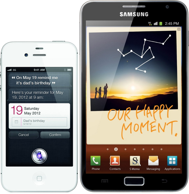 iPhone 4S e Galaxy Note