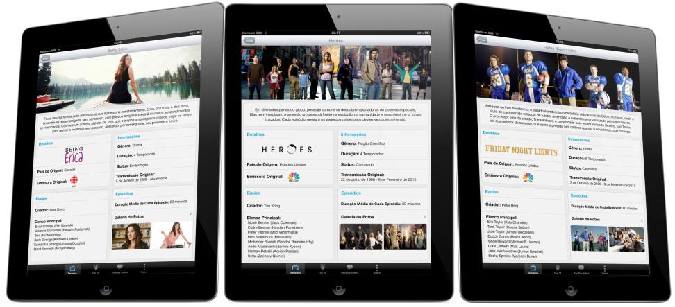 FanZine em iPads