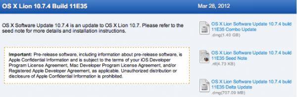 OS X 10.7.4, build 11E35