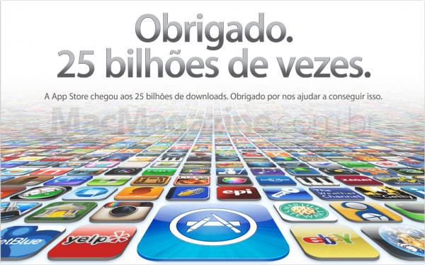 25 bilhões de aplicativos baixados na App Store
