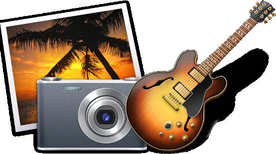 Ícones do iPhoto e do GarageBand (OS X)