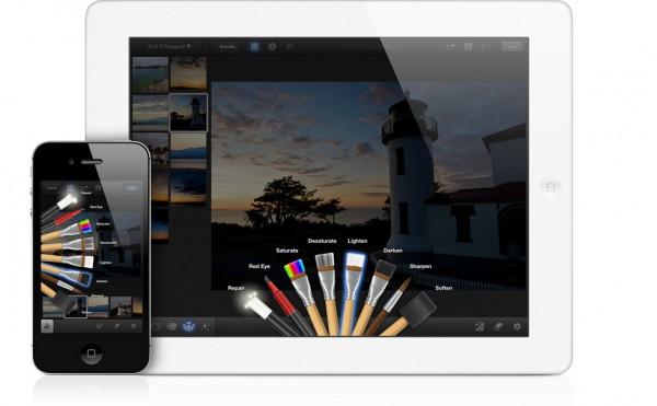 iPhoto rodando em iPad e iPhone