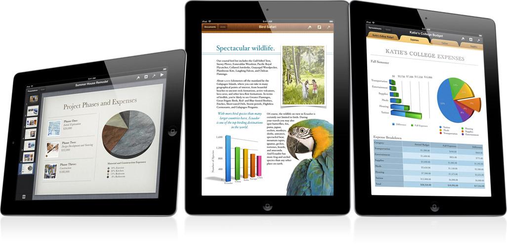iWork para iOS em iPads