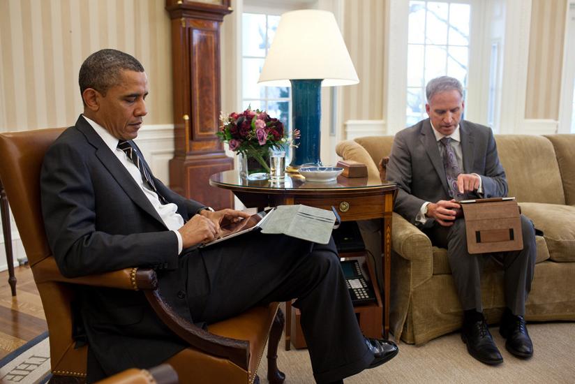 Presidente Obama com seu iPad