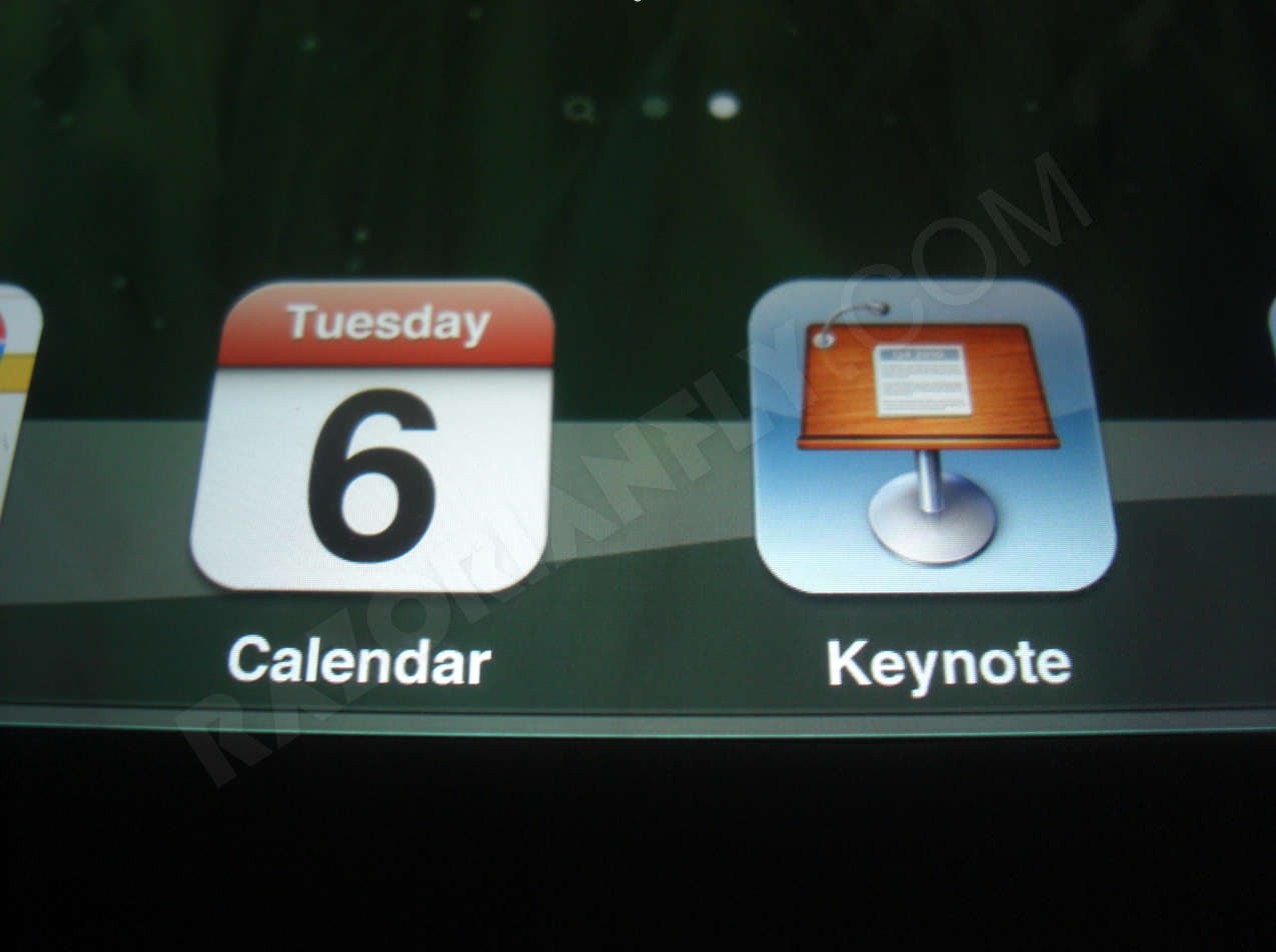 Suposta tela Retina do iPad