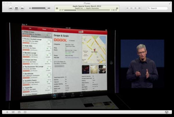 Yelp no iOS (iPad)