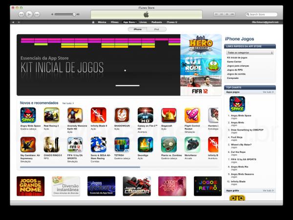 Jogos na App Store Brasil