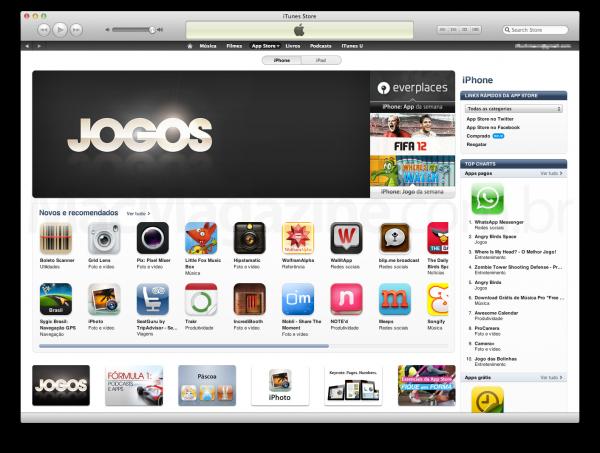 Destaque de jogos na App Store brasileira