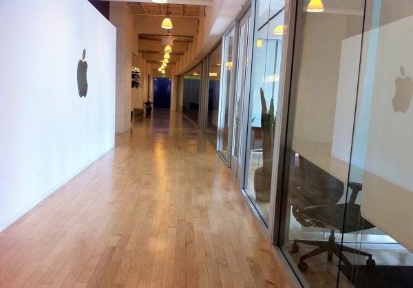 Dentro do campus da Apple em Cupertino