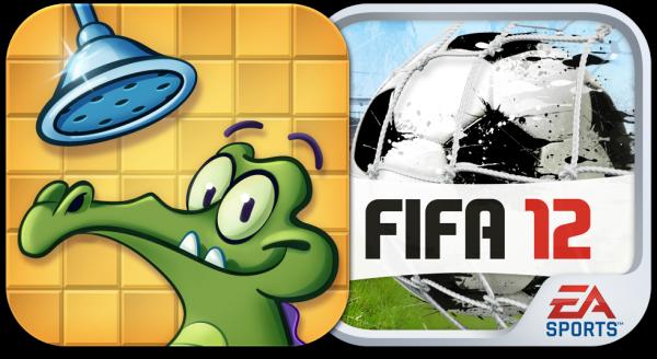 Ícones - Where's My Water? e FIFA 12