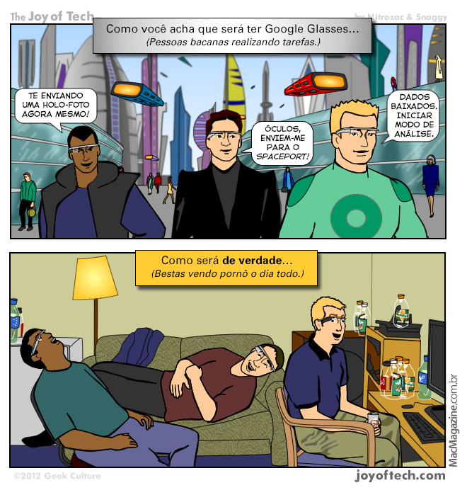 Joy of Tech - A verdade sobre os Google Glasses