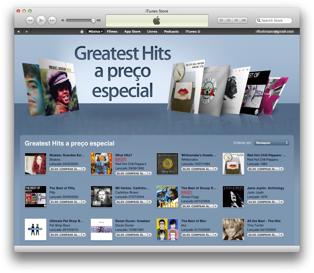 Greatest Hits na iTunes Store