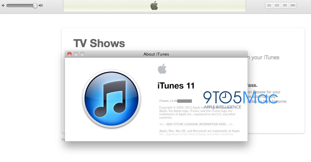 Screenshot do iTunes 11