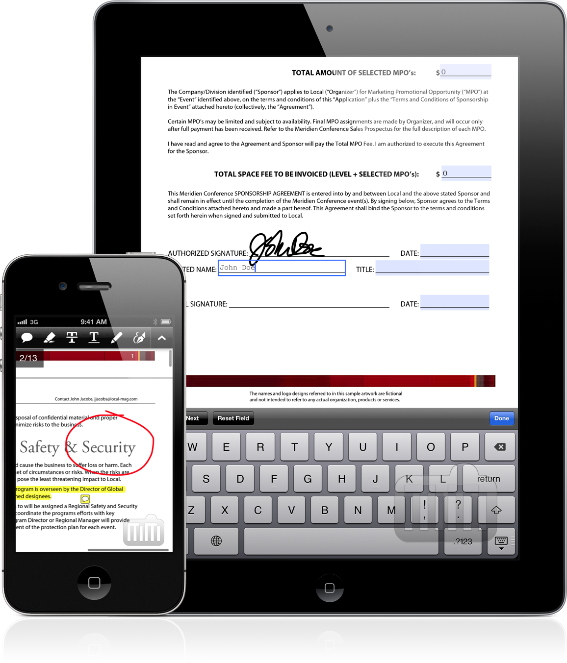 Adobe Reader 10.2 no iPad e iPhone