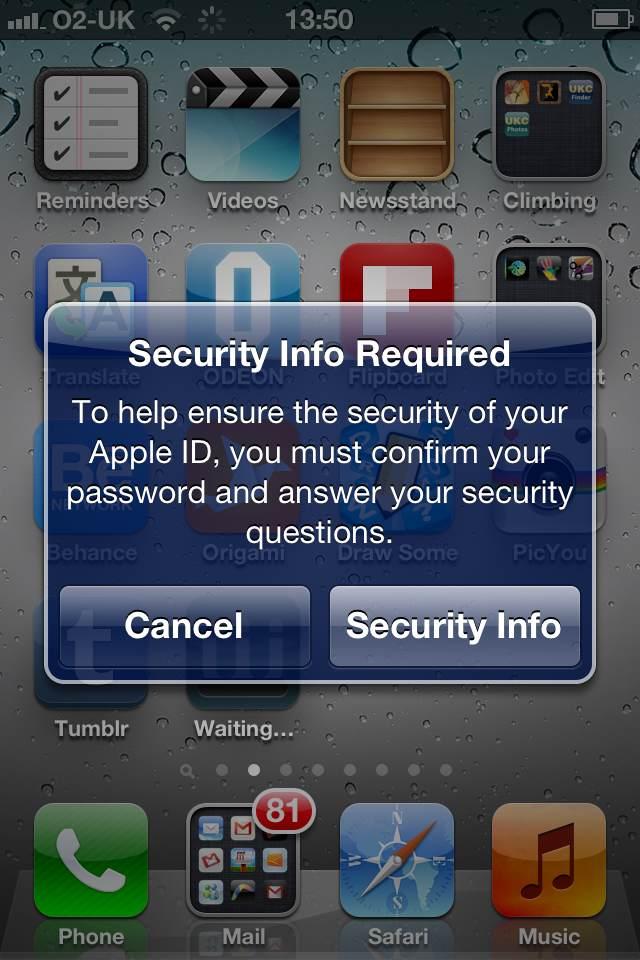 Apple ID - Segurança