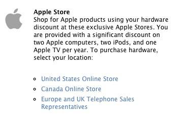 Banner de descontos oferecido pela Apple