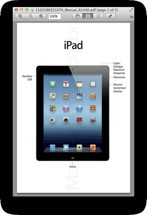 Homologação do novo iPad na ANATEL