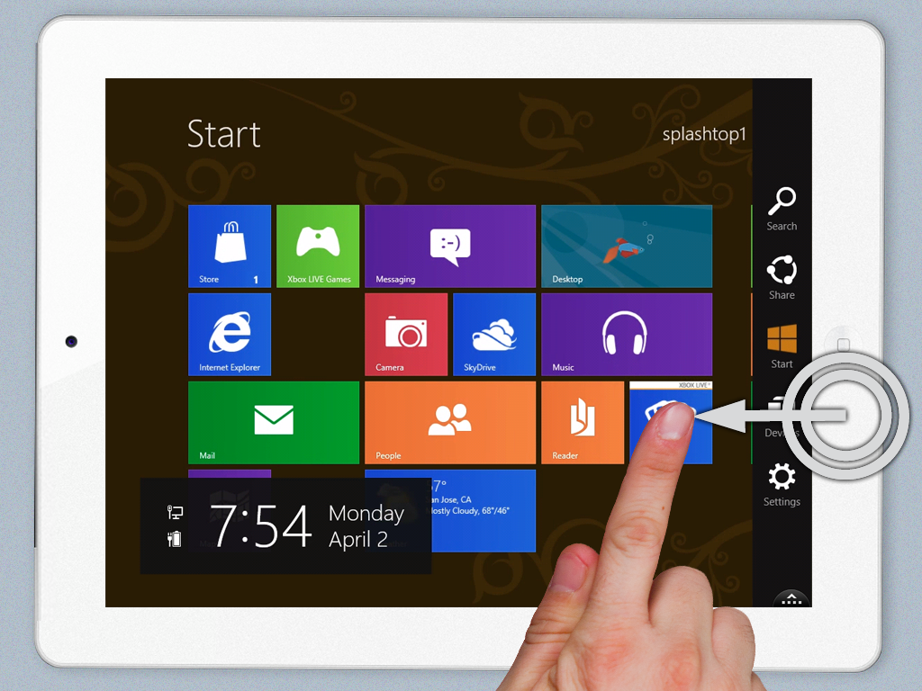 Splashtop - Windows 8 no iPad