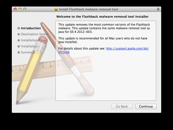 Flashback malware removal tool