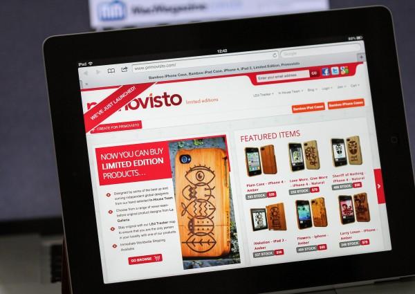 Site da Primovisto no iPad